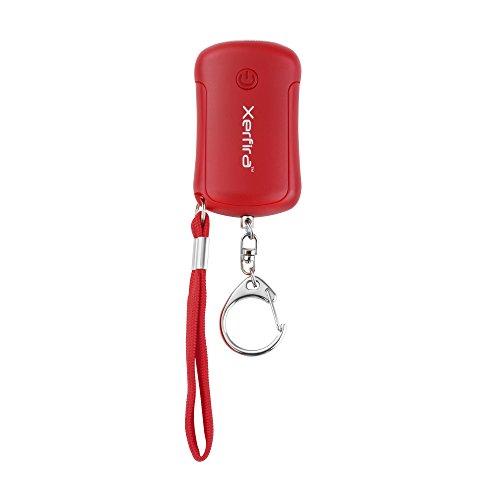 Xerfira Personenalarm, Schlüsselanhänger und Taschenlampe mit 120db Sirene, Selbstschutz, Alarm Anhänger