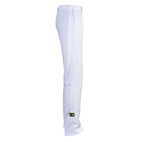 JLSPORT Authentische Brasilianische Capoeira Kampfsport Männer Hosen (Weiß) - M