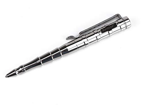 Remize® R009 Taktischer Kugelschreiber Kubotan Tactical Pen Selbstverteidigungs-Stift Glasbrecher (Edelstahl)