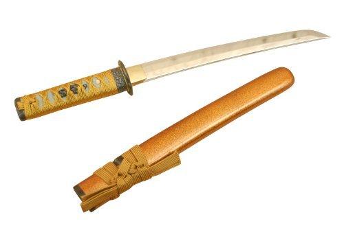 Authentischer japanisches Kaiken (Futokoro-gatana) Dolch - Nashiji (Gold powder)