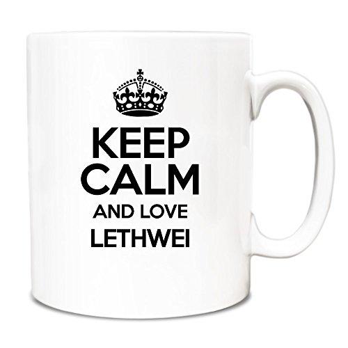 Schwarz, Motiv 'Keep Calm and Love Lethwei Becher 0929 TXT