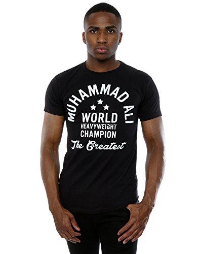 Muhammad Ali Herren Heavyweight Champion T-Shirt XXX-Large Schwarz