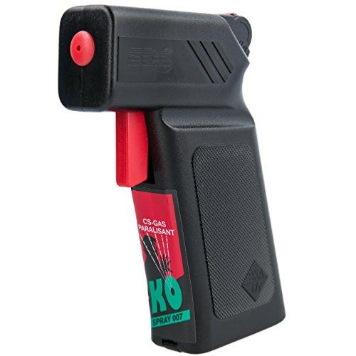 KO Spray 007 Selbstschutzpistole 18 ml CS Gas Paralisant Abwehrpistole BKA zugelassen Selbstverteidigung CS Gas