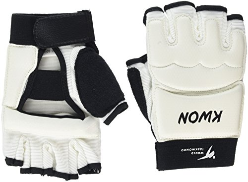 KWON Boxhandschuhe Handschutz WT World TKD, weiß, M, 4009002