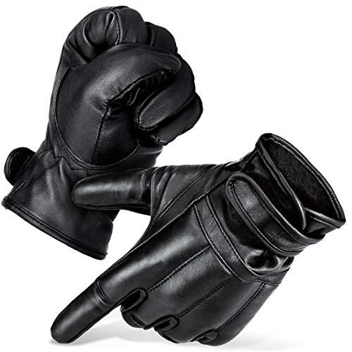 Black Snake Security Quarzsandhandschuhe Defender Einsatzhandschuhe aus echtem Leder - XXL - Schwarz