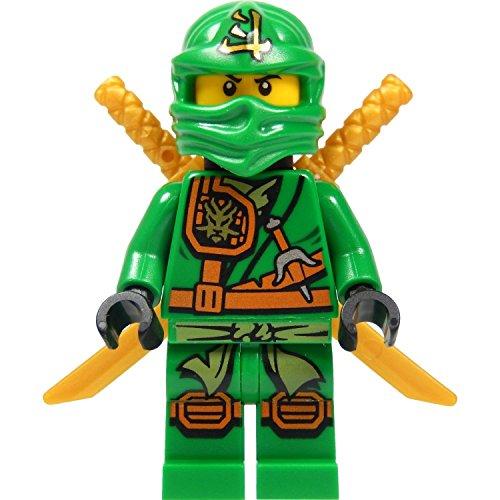 LEGO® Ninjago: Minifigur Lloyd Garmadon (grüner Ninja) mit Schwertehalter und zwei Katanas (Schwerter) 2015 Version