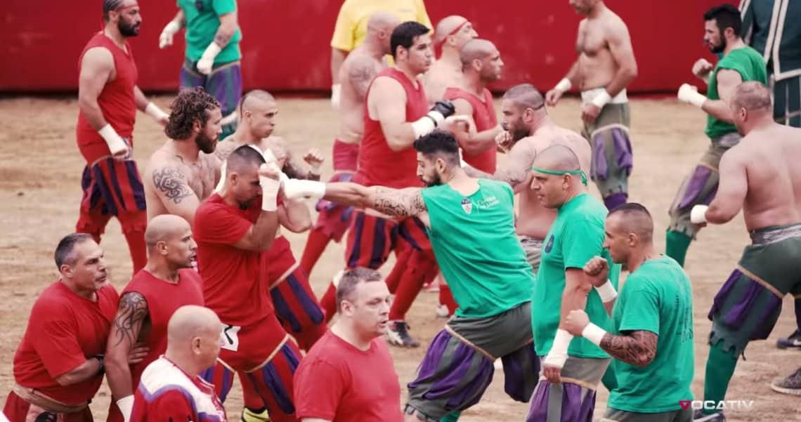 Historischer Fussball Calcio Storico 2015 – Kampfgetümmel